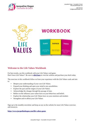 life values workbook
