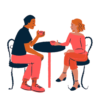 couple coffee chat