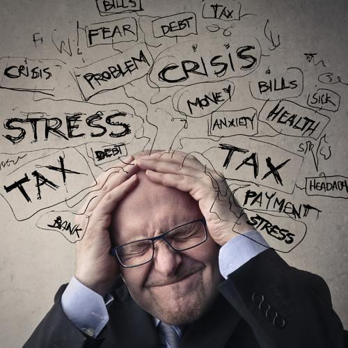 men stressed