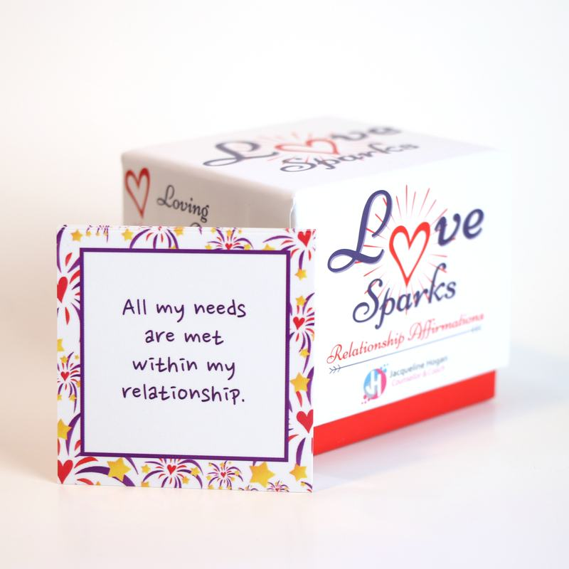 love sparks card and box