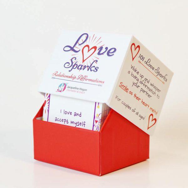 love spaks affirmations box