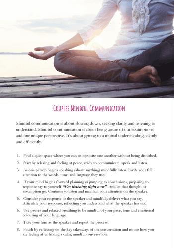 mindfulness communication meditation exercise