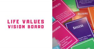 life values vision board cover